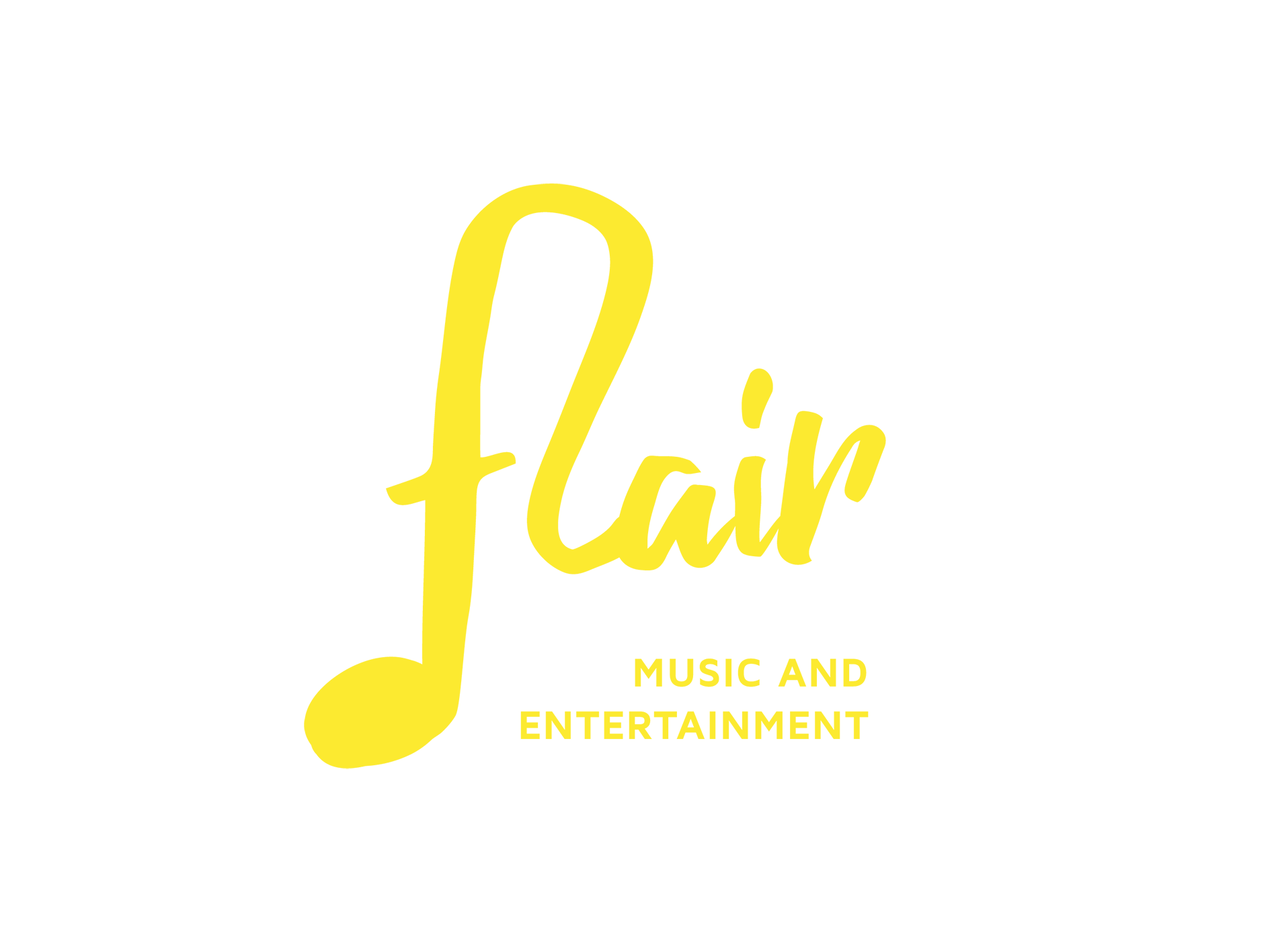 Flair Live Band Logo mit Claim